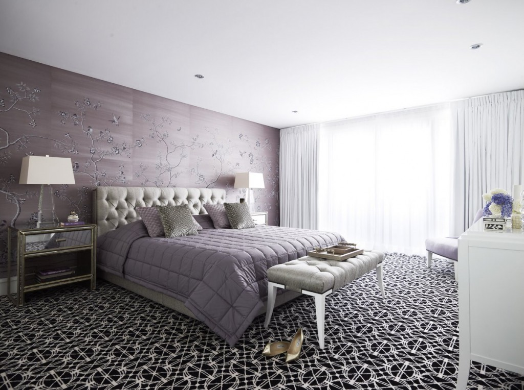 Black And White Wallpaper Bedroom Ideas Soft And Hard Interiors By Color