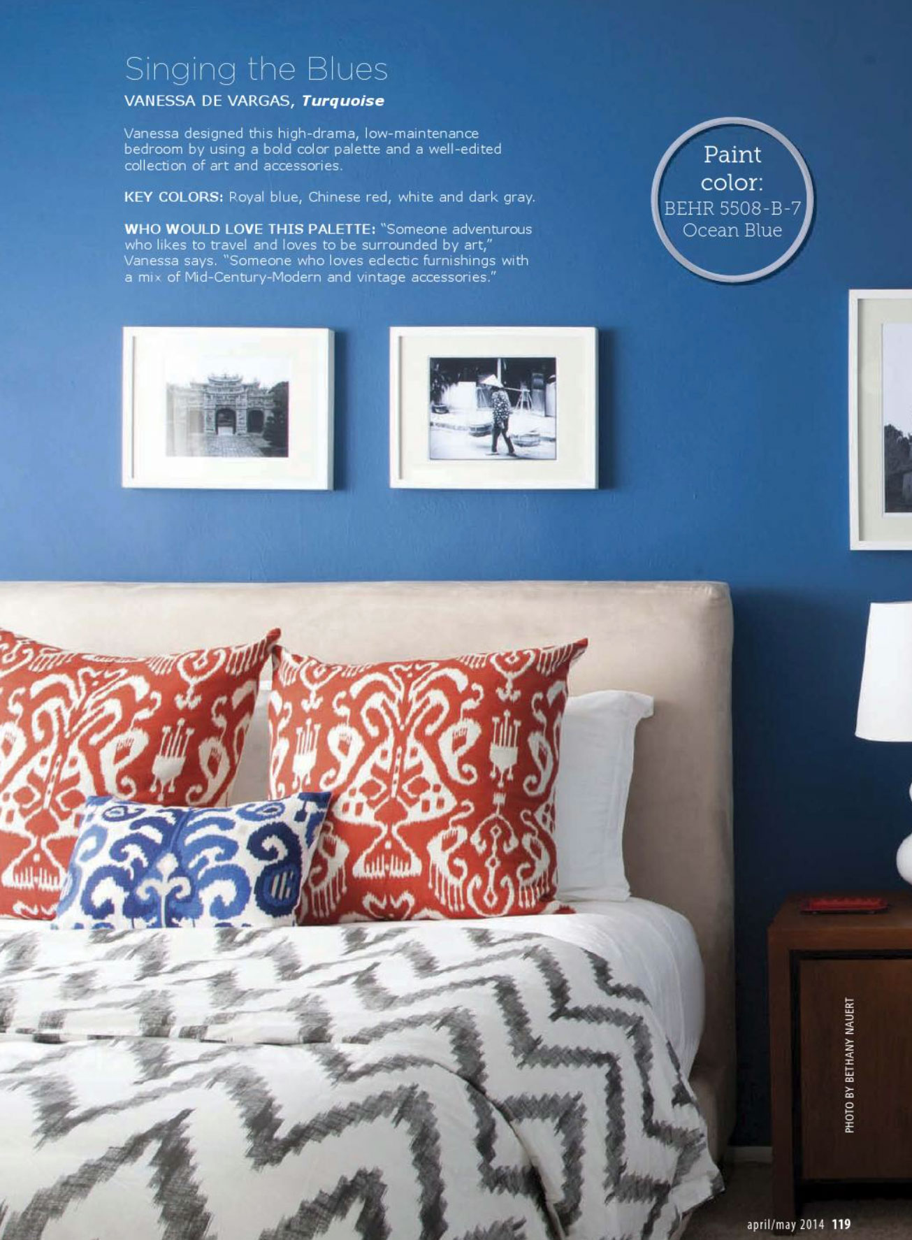 Black Grey Cream Stripe Wallpaper Chinese Red And Blue Bedroom Interiors By Color