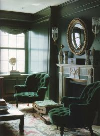 Malachite Toned Interior - Interiors By Color