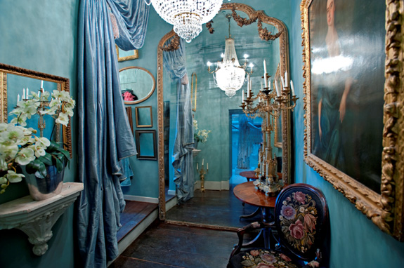 Black And White Gothic Wallpaper Turquoise English Eccentric Interiors By Color