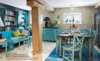 Industrial and Antique Turquoise Themed Living - Interiors ...