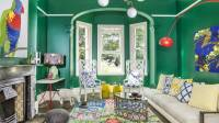 Kelly Green Interior Decor and Paints - Interiors By Color