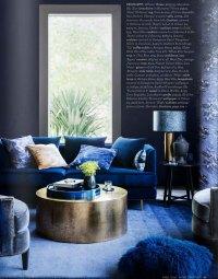 Indigo Blue Living Room