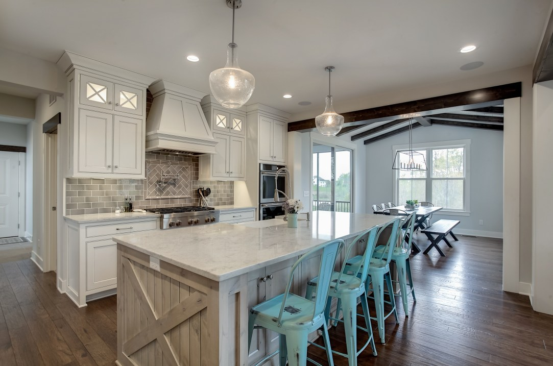 Modern Country Farmhouse Kitchen In Gray White And