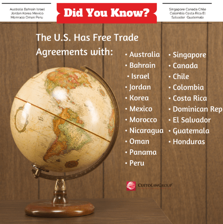 Free Trade Agreement, Exports, Miami Business Attorney, Miami Law firm, international