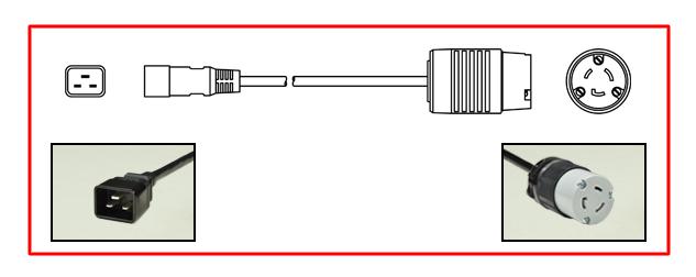 20 AMPERE-125 VOLT (NEMA L5-20P) LOCKING POWER PLUG, 2 POLE-3 WIRE