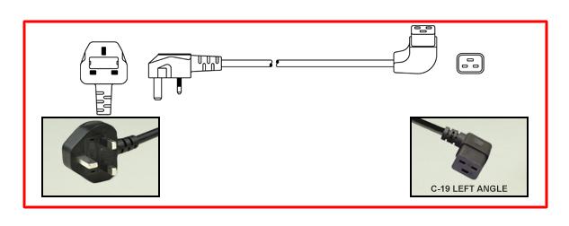 BRITISH, UNITED KINGDOM, UK 13 AMPERE-250 VOLT TYPE G PLUG (UK1-13P