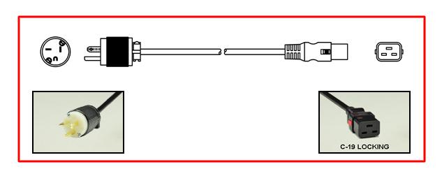 20 AMPERE-250 VOLT (NEMA 6-20P) POWER PLUG, 2 POLE-3 WIRE, GROUNDING