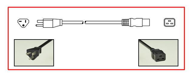 20 AMPERE-250 VOLT (NEMA 6-20R) POWER OUTLET, SOCKET, RECEPTACLE, 2