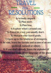 Travel Resolutionsfor 2016