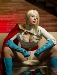 Sexy Power Girl Cosplayer