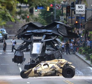 Batwing On 'The Dark Knight Rises' Set