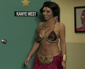 Kim Kardashian Dressed Like Slave Leia For Kanye
