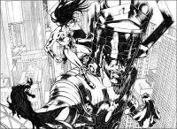Marco Rudy pitts 'Galactus vs. Justice League'