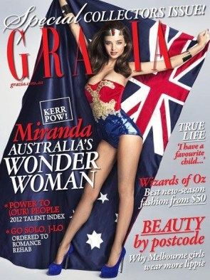 Austrailian Supermodel Miranda Kerr as Wonder Woman
