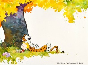 Rare Calvin & Hobbes watercolor up for auction