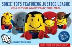 Sonic Drive-In Justice League Tots