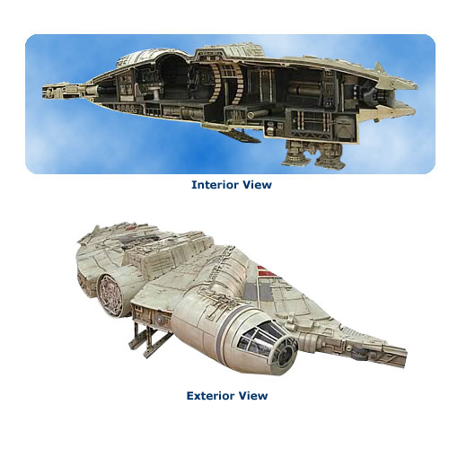 Star Wars Millennium Falcon Resin Diorama Statue Sculpture