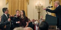 White House press secretary Sarah Sanders tweeted a doctored video of the Jim Acosta micgrab that was shared a couple of hours earlier by the farright site Infowars