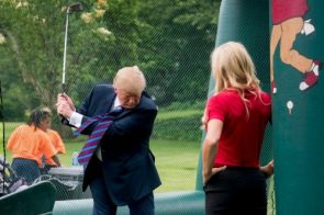 President Trump installed a room-sized golf simulator at White House