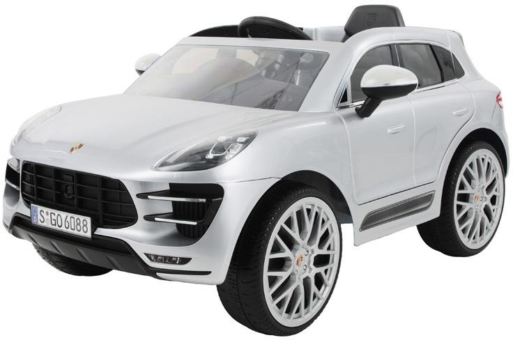 Rollplay Porsche Macan Turbo battery powered vehicle 12 Volt silver