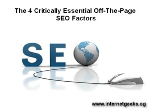 The 4 Critically Essential Off-The-Page SEO Factors