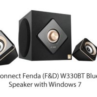 How to Connect Fenda (F&D) W330BT Bluetooth Speaker with Windows 7