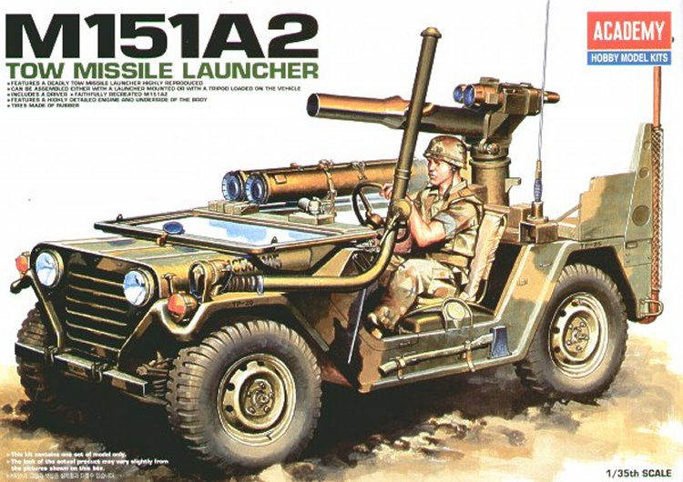 Academy 1/35 M151A2 TOW Missile Launcher