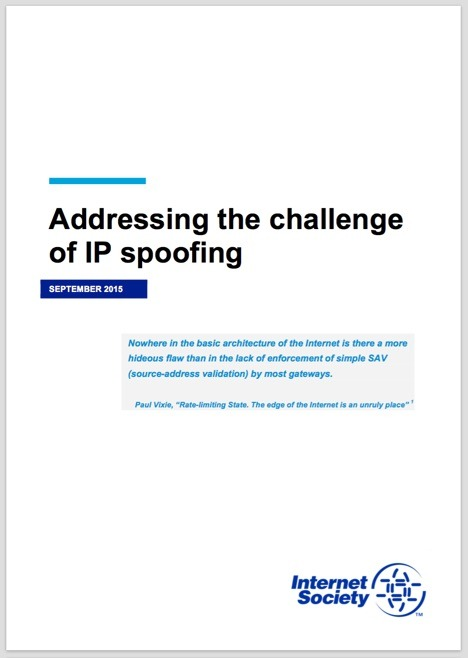 Addressing the challenge of IP spoofing