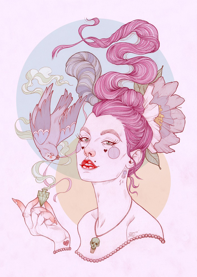 Tattoo inspired art by Liz Clements (15)