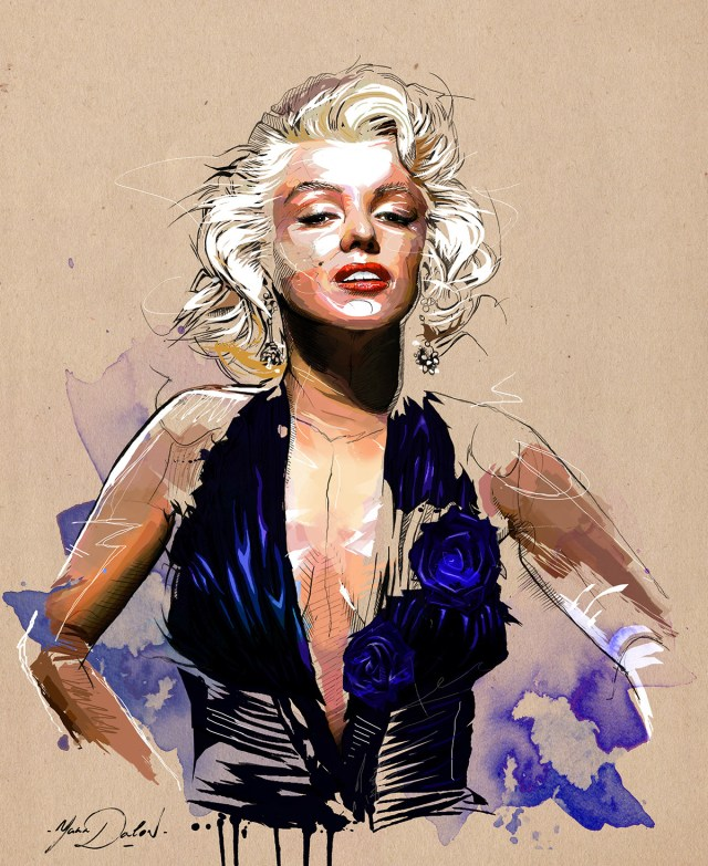 marilyn_monroe by Yann Dalon