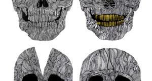Extraordinary Human Skull Illustrations by Sam Sephton
