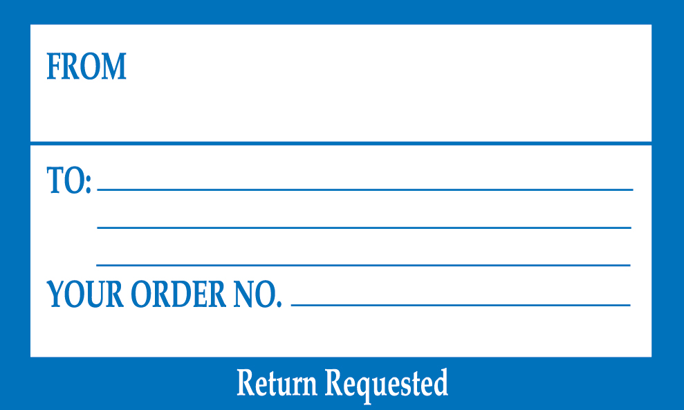 Your Order No Return Requested\ - Address Label