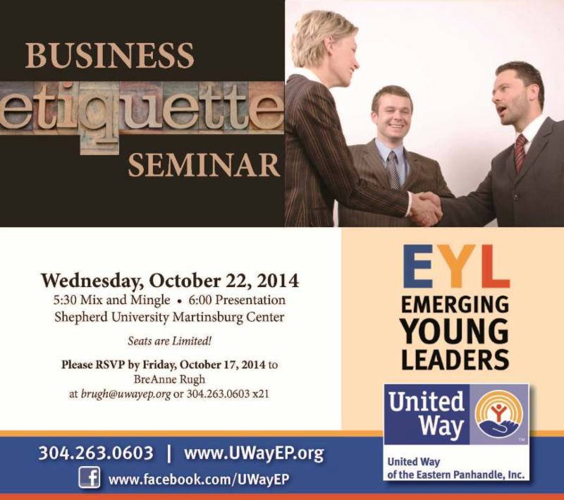 United Way Emerging Young Leaders Business Etiquette Seminar - Local - seminar flyer