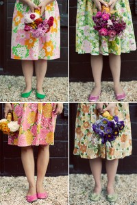 Floral Bridesmaid Dresses Perfect for a Country Chic Wedding