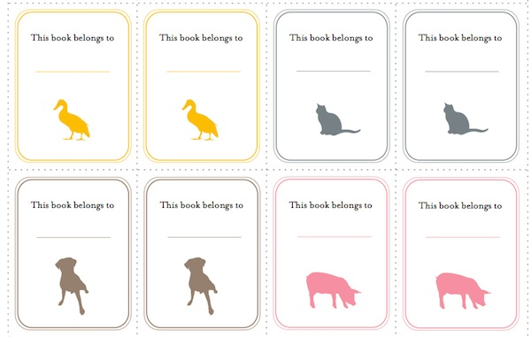 Free Book Plate Templates - free sticker template