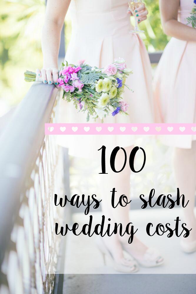 100 Ways To Slash Wedding Costs - sample budget