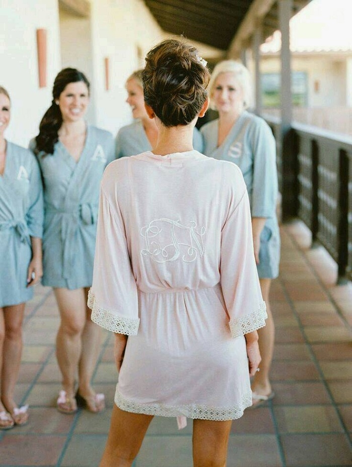 monogrammed robes for bridesmaids