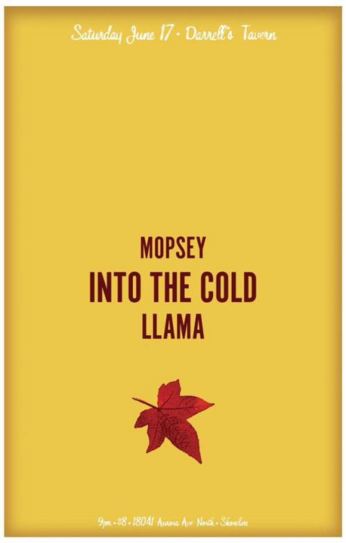 Into The Cold with MOPSEY and LLAMA at Darrell's Tavern