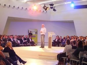 Euan Semple at Congres 2013. Picture via Motion10. Click through to original
