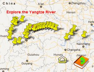 Interactive Map Following Isabella Bird's Journey Along the Yangtze River Valley