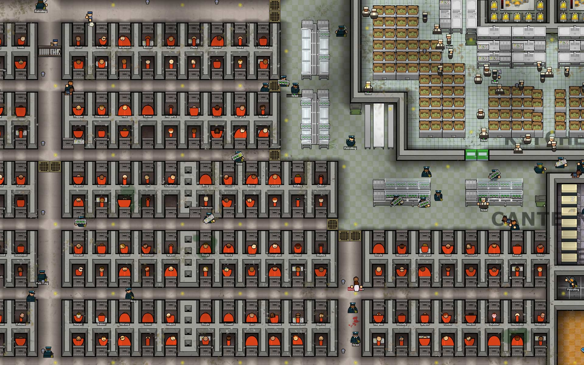 V2 3d Wallpaper Tiles Prison Architect By Introversion Software