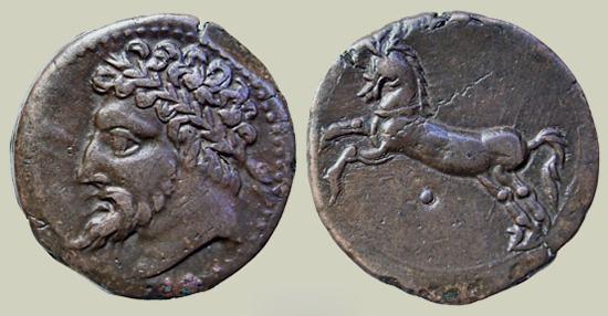 قطعة نقدية للملك مكوسن