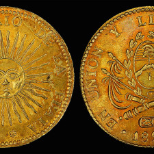 Argentina, 8 gold escudos (1828) at the National Museum of American History - National Numismatic Collection - Short Selling and Speculation