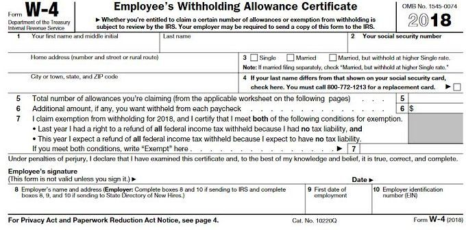 How To Fill Out Your W 4 Form