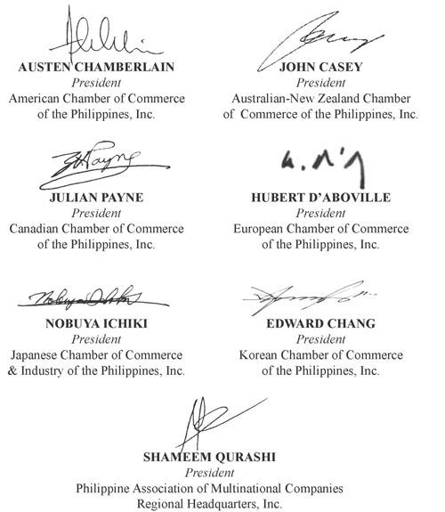 Transmittal Letter to President Aquino - Arangkada Philippines