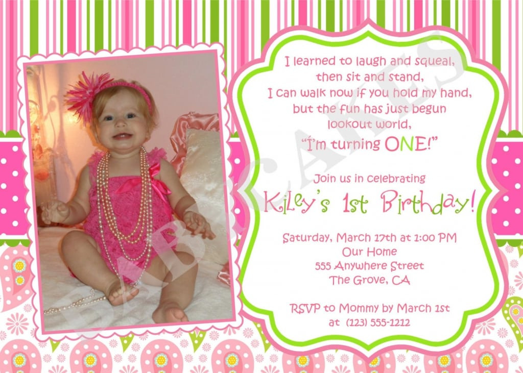 first birthday invitation templates free hitecauto - free first birthday invitation template