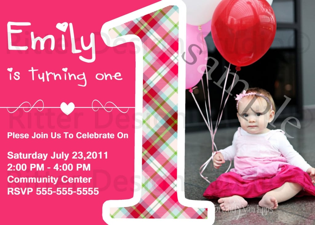 Free first birthday invitations templates - getjobcsat - free first birthday invitation template