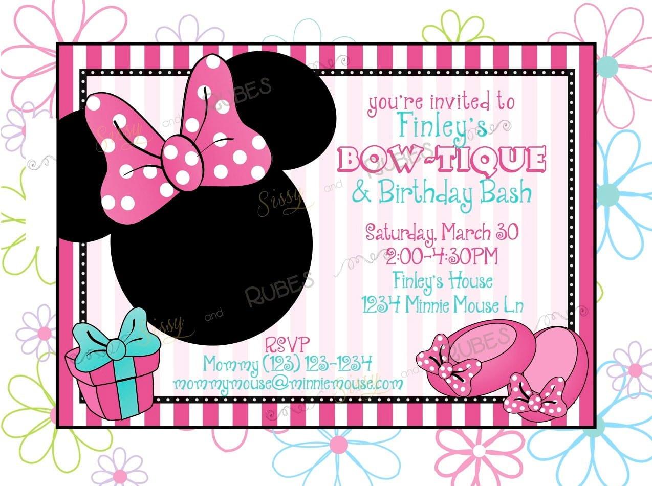 mickey birthday invitation