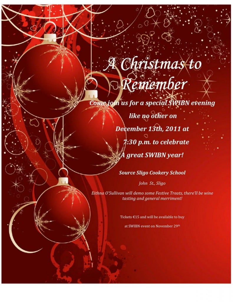 Free Printable Christmas Invitation – Free Templates Christmas Invitations